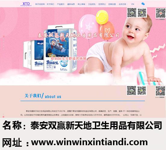 泰安双赢新天地卫生用品有限公司